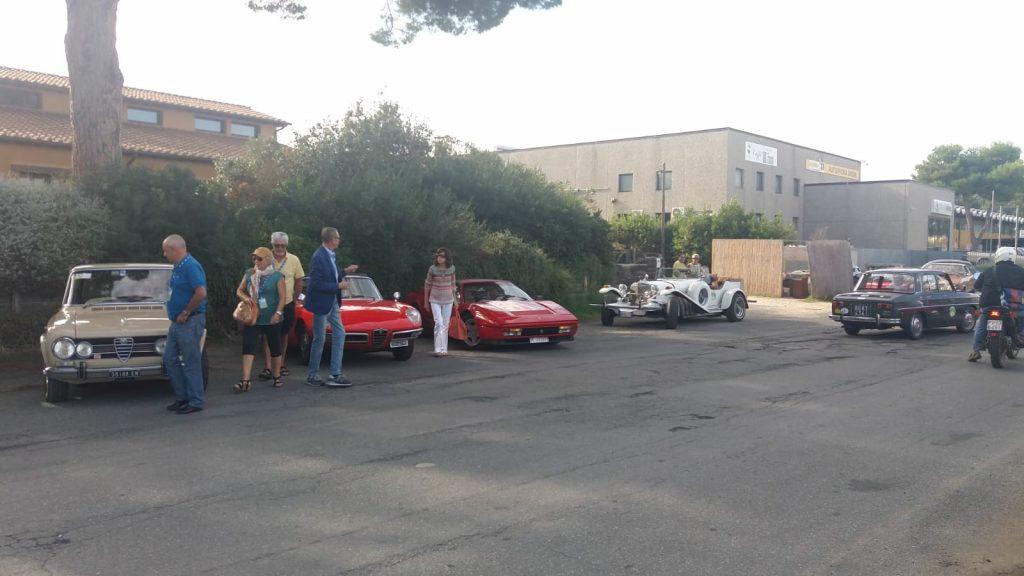 Esposizione auto d'epoca a Bolgheri