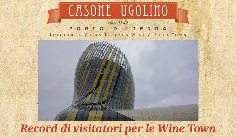 record di visitatori per le wine town