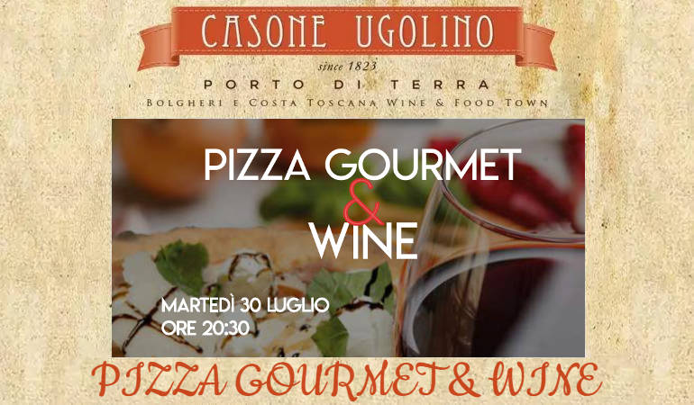 pizza gourmet e wine