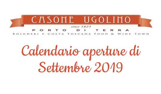 calendario settembre