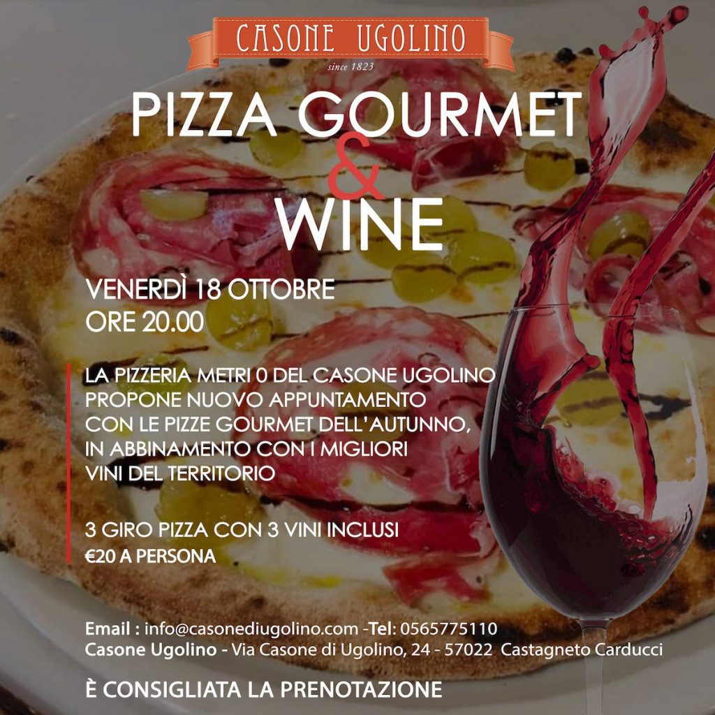 pizza gourmet and Wine